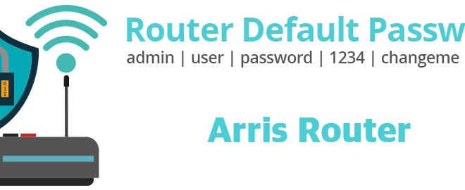 Arris Router Password